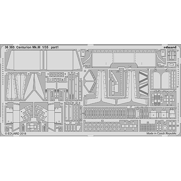 EDU36385 [1/35スケール エッチングパーツ イギリス戦車 センチュリオンMk.III エッチングパーツ(タミヤ用)]