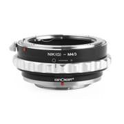 KF-NGM43-2 [マウントアダプター レンズ側:ニコンFマウント(Gタイプ対応) ボディ側:マイクロフォーサーズ]
