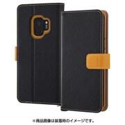 RT-GS9ELC2/BOR [Galaxy S9 手帳型ケース 2トーンカラー ブラック/オレンジ]
