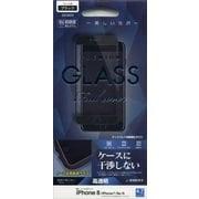 GW1000IP8 [iPhone 8/7/6s/6 光沢 ケース干渉レス GLASS PANEL 0.33mm 液晶保護フィルム ブラック]