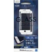 GW1001IP8 [iPhone 8/7/6s/6 光沢 ケース干渉レス GLASS PANEL 0.33mm 液晶保護フィルム ホワイト]