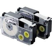 CTC-CXR12X-2P [ネームランド用互換テープ 透明テープ/黒文字 8m 12mm幅 2個パック]