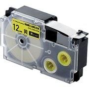 CTC-CXR12YW [ネームランド用互換テープ 黄色テープ/黒文字 8m 12mm幅]