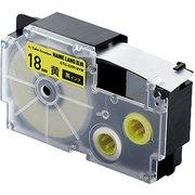 CTC-CXR18YW [ネームランド用互換テープ 黄色テープ/黒文字 8m 18mm幅]