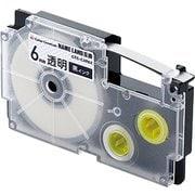 CTC-CXR6X [ネームランド用互換テープ 透明テープ/黒文字 8m 6mm幅]