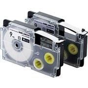 CTC-CXR9WE-2P [ネームランド用互換テープ 白テープ/黒文字 8m 9mm幅 2個パック]