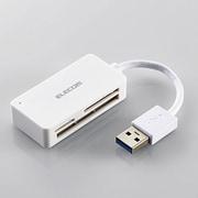 MR3-A016XWH [メモリリーダライタ/USB3.0対応/コンパクト/SD+microSD+CF対応/ホワイト]