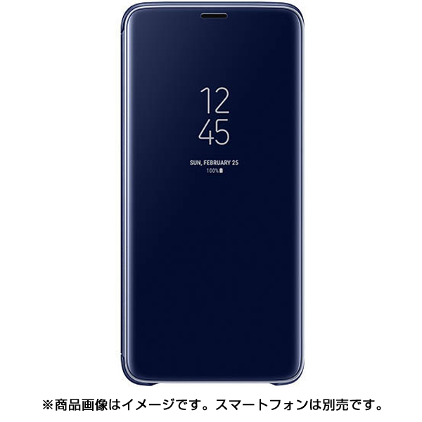 EF-ZG965CLEGJP [Galaxy S9+ Clear View Standing Blue]