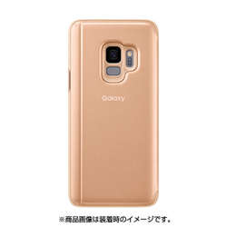 EF-ZG965CFEGJP [Galaxy S9+ Clear View Standing Gold]