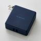DE-AC01-N2924BU [モバイルバッテリー/リチウムイオン電池/AC一体型/おまかせ充電対応/2900mAh/2.4A/PSE適合/ブルー]
