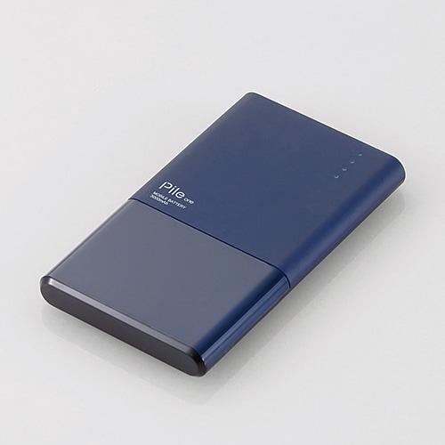 DE-M05-N3015BU [モバイルバッテリー/リチウムイオン電池/おまかせ充電対応/Pile one/3000mAh/1.5A/PSE適合/ブルー]