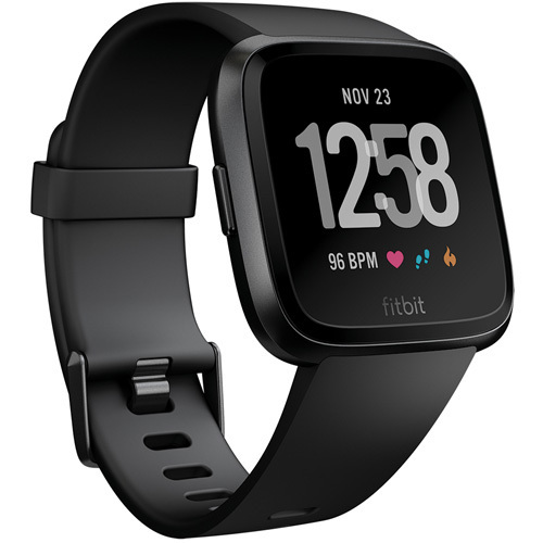 FB505GMBK-CJK [Fitbit(フィットビット) スマートウォッチ Versa Black/Black Aluminium L/Sサイズ]