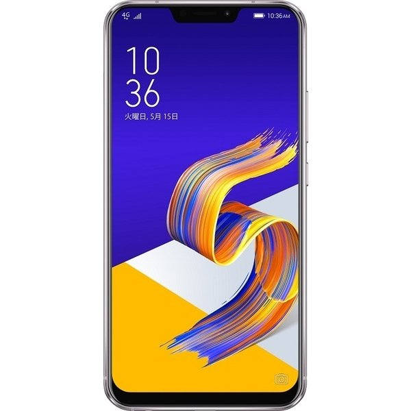 ZE620KL-SL64S6 [Zenfone 5 Series 6.2インチ 2246×1080(フルHD+) /Android 8.0/Qualcomm Snapdragon 636/RAM 6GB/eMMC 64GB/802.11ac/Blutooth5.0/LTE対応/指紋センサー/スペースシルバー]