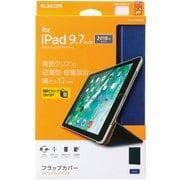 TB-A18RWVBU [iPad 9.7インチ 2018年&2017年モデル フラップカバー 背面クリア ソフトレザー 2アングル スリープ対応 ブルー]