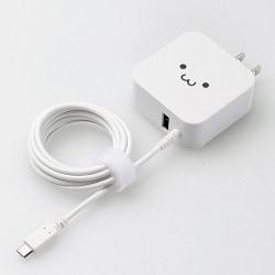 MPA-ACM01WF [AC充電器 microBケーブル+USBポート 2.4A ホワイトフェイス]