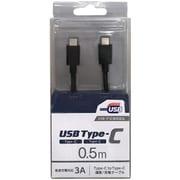 CD-3CS050K [スマートフォン用USBケーブル C to C タイプ 認証品 0.5m ブラック]