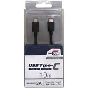 CD-3CS100K [スマートフォン用USBケーブル C to C タイプ 認証品 1.0m ブラック]