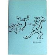 印傳のような紙のファイル A5 鳥獣戯画/あさぎ [ファイル]