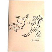 印傳のような紙のファイル A5 鳥獣戯画/古染 [ファイル]