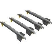 EDU672187 [R-13M アトール 空対空ミサイル (MiG-21用、4個入り) (エデュアルド用) 1/72 ブラッシン レジンパーツシリーズ]