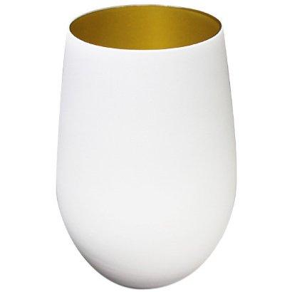 メタルカラータンブラー マットホワイト/ゴールド