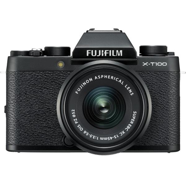 X-T100 レンズキット ブラック [ボディ+「XC15-45mm F3.5-5.6 OIS PZ ブラック」]