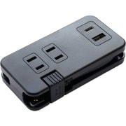 IPA-24AC3/BK [モバイルUSB-ACタップ(USB-A・USB-Type-Cポート・ACコンセント付) ブラック]
