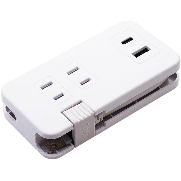 IPA-24AC3/WH [モバイルUSB-ACタップ(USB-A・USB-Type-Cポート・ACコンセント付) ホワイト]