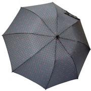 1101-GY [雨晴兼用 リボンドット ショートワイド雨傘 グレー 60cm スライド式中棒]