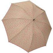 1114-BE [雨晴兼用 プチハート柄 ショートワイド雨傘 ベージュ 60cm スライド式中棒]