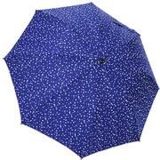 1114-NV [雨晴兼用 プチハート柄 ショートワイド雨傘 ネイビー 60cm スライド式中棒]