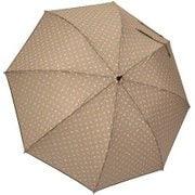 1110-BE [雨晴兼用 小花プリント ショートワイド雨傘 ベージュ 60cm スライド式中棒]