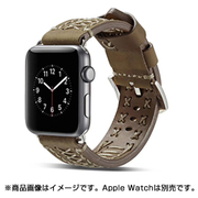 YEP-008-38KK [Apple Watch用レザーバンド 38mm カーキ]