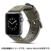 YEP-008-38GY [Apple Watch用レザーバンド 38mm グレー]