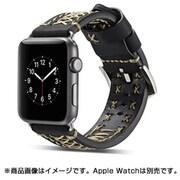 YEP-008-38BK [Apple Watch用レザーバンド 38mm ブラック]