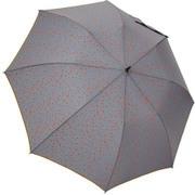 1114-GY [雨晴兼用 プチハート柄 ショートワイド雨傘 グレー 60cm スライド式中棒]