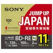 11BNE3VNPS2 [BD-RE ビデオ用ブルーレイディスク くり返し録画用 3層 100GB 2倍速 11枚パック]