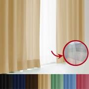 エール カーテン&レースセット BE 100x150 4P [遮光性カーテン&ミラーレースカーテン シャンパンゴールド 幅100×丈150cm 4枚セット]