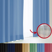 エール カーテン&レースセット BL 100x185 4P [遮光性カーテン&ミラーレースカーテン スカイブルー 幅100×丈185cm 4枚セット]