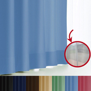 エール カーテン&レースセット BL 150x230 2P [遮光性カーテン&ミラーレースカーテン スカイブルー 幅150×丈230cm 2枚セット]