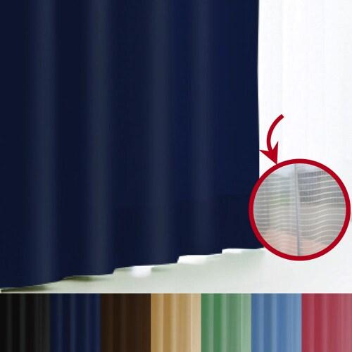 エール カーテン&レースセット NV 150x178 2P [遮光性カーテン&ミラーレースカーテン ロイヤルブルー 幅150×丈178cm 2枚セット]