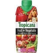 トロピカーナ フルーツ+ベジタブル 甘熟ストロベリー・ナッツテイスト 330ml×12本 [果実果汁飲料]