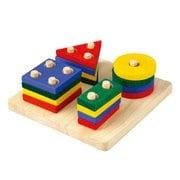 2403 [木製玩具 ジオメトリックソーティングボード 2歳~]