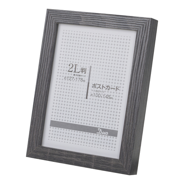 E-5556 [フォトフレーム デュオPS 2L/ポストカード ブラック]