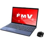 FMVA77C2L [ノートパソコン LIFEBOOK AHシリーズ/15.6型ワイド/Corei7-8550U/メモリ 8GB/SSD 128GB + HDD 1TB/Blu-rayドライブ/Windows 10 Home 64ビット/Office Home and Business 2016/メタリックブルー]