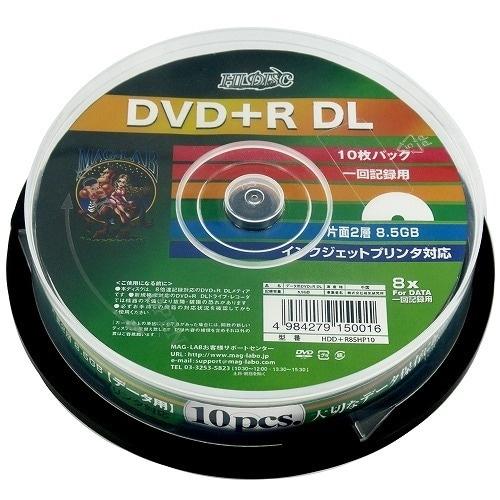 HDD+R85HP10 [DVD+R DL 片面2層 10枚スピンドル]