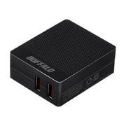 BSMPA2418P2BK [2.4A USB急速充電器 AUTO POWER SELECT機能搭載 2ポートタイプ ブラック]