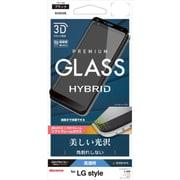 SG1269L03K [LG style L-03K フィルム 曲面保護 強化ガラス 高光沢 3Dソフトフレーム 角割れしない ブラック LG スタイル 液晶保護フィルム]
