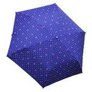 1301-NV [リボンドット 折りたたみ雨傘 ネイビー ポリエステル100% 50cm 楽折りミニ]