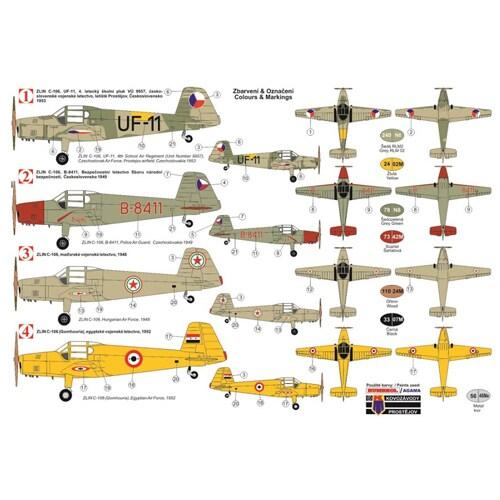 KPM4809 ズリン C-106 チェコ空軍複座練習機 [1/48 エアクラフトシリーズ プラモデル]